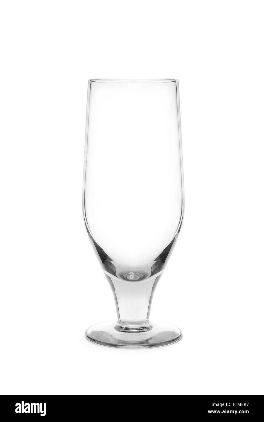 champaign crystal glass isolated - Stock Image