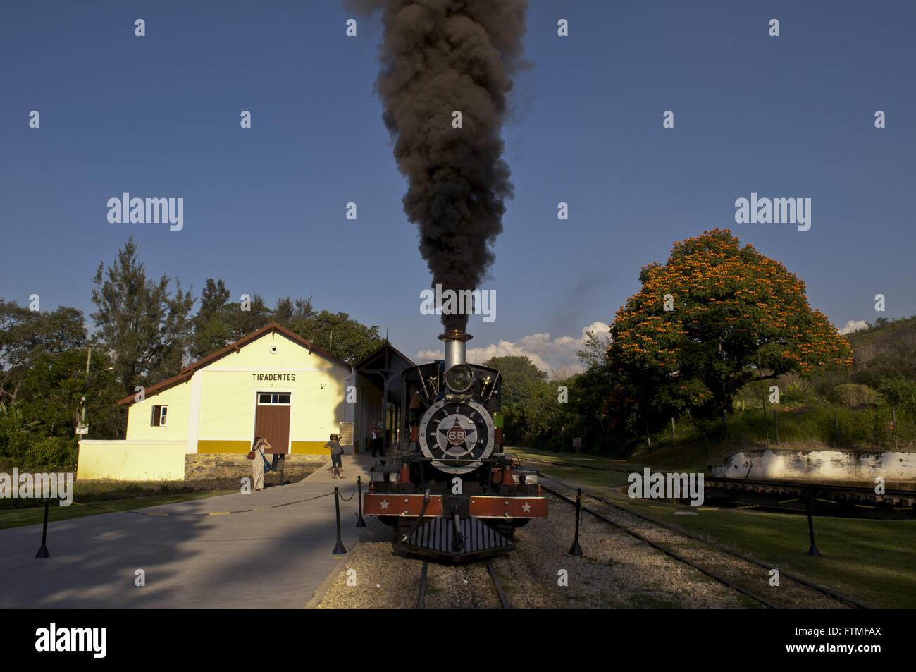 Maria-smoke in season daEstrada of West Iron Mines built between 1880 and 1881 - Stock Image