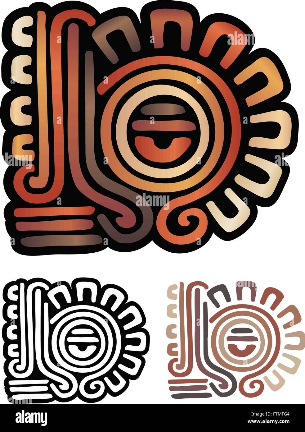 Abstract Eye Symbol From Mayan Stock Photos Abstract Eye Symbol
