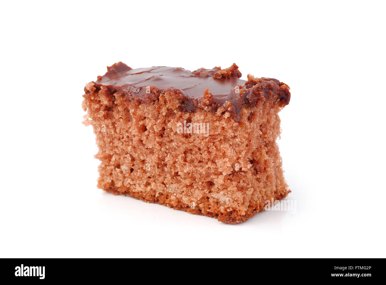 brownie piece of cake - Stock Image