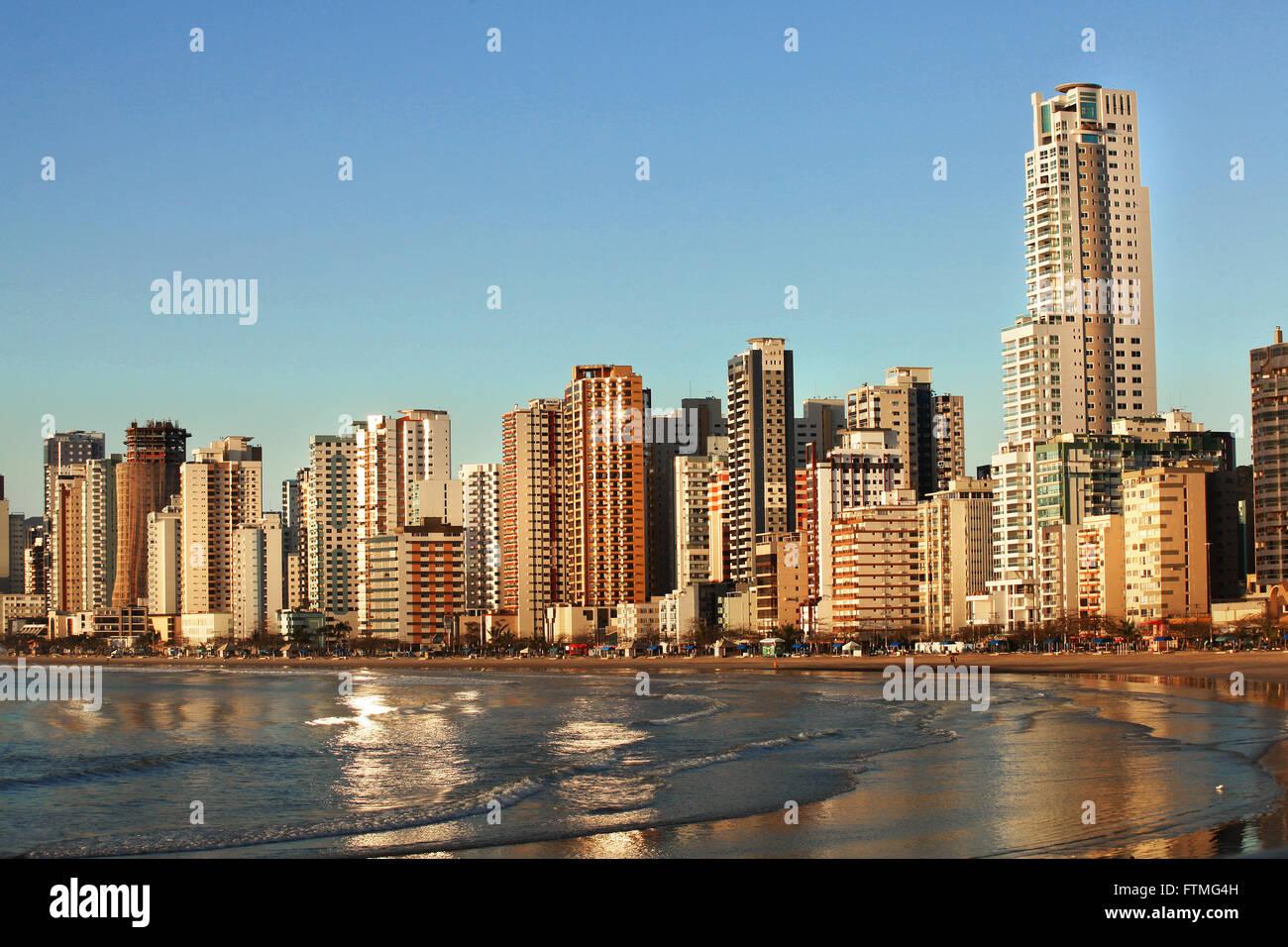 Central beach of Balneario Camboriu - SC - Stock Image
