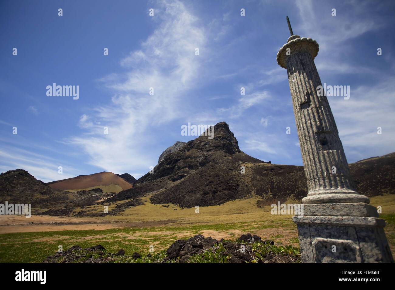 Volcanic formation and landmark in the island of Trinidad - Stock Image