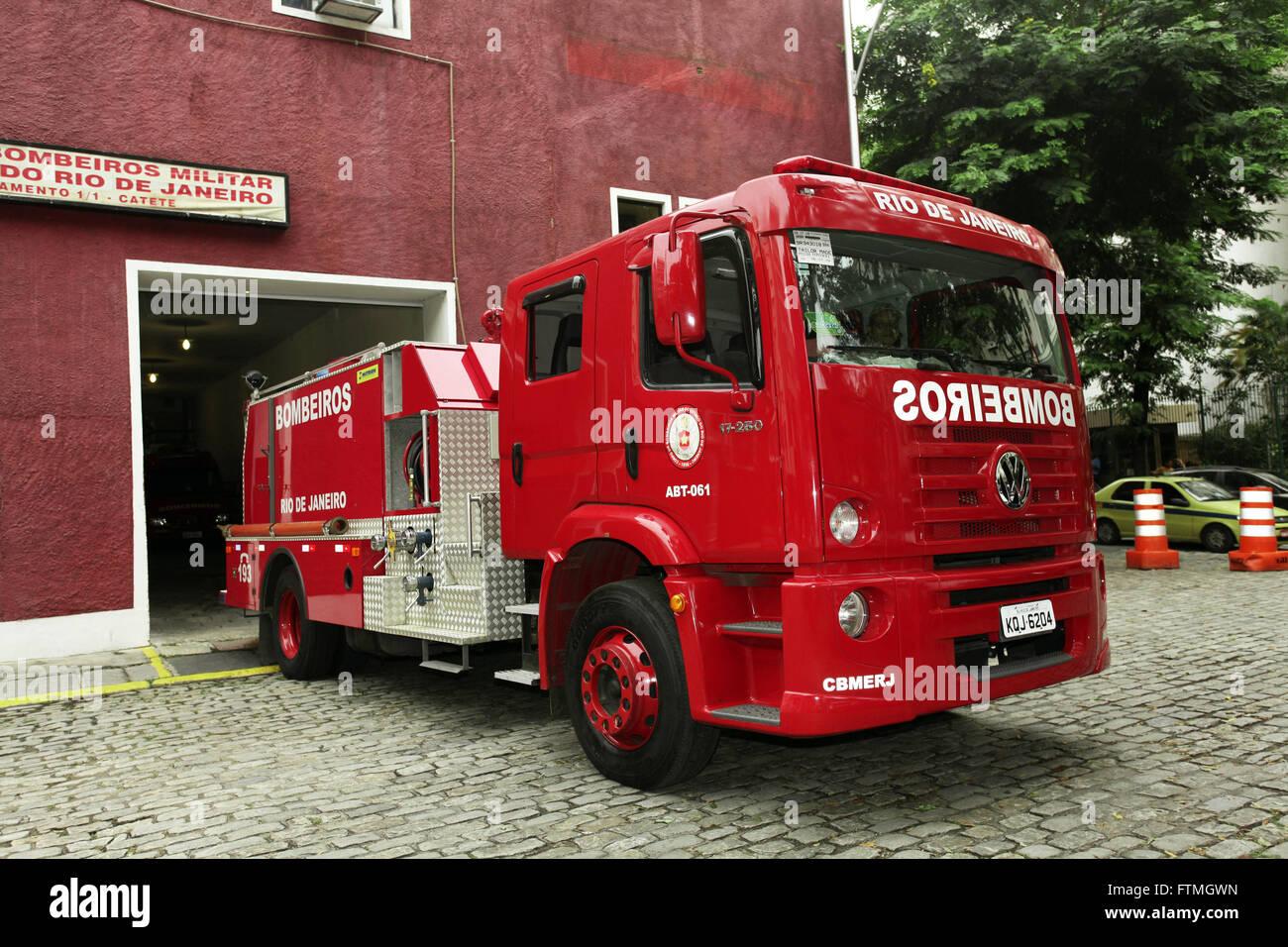 Grouping the Fire Brigade of the State of Rio de Janeiro - Stock Image