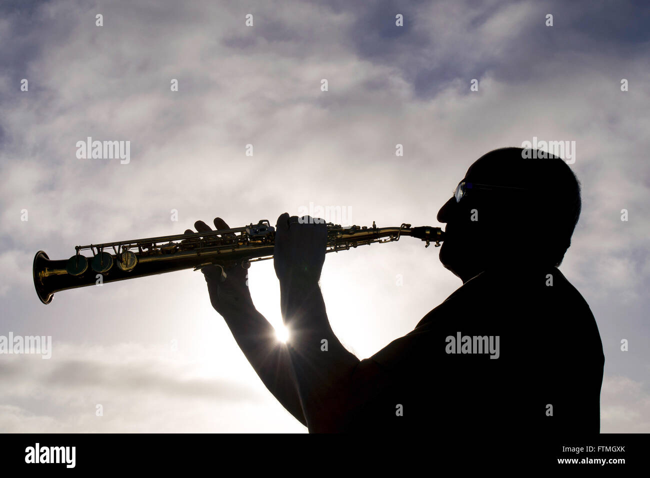 Official 2a,a of machines playing his sax on the ship Maisa - Stock Image