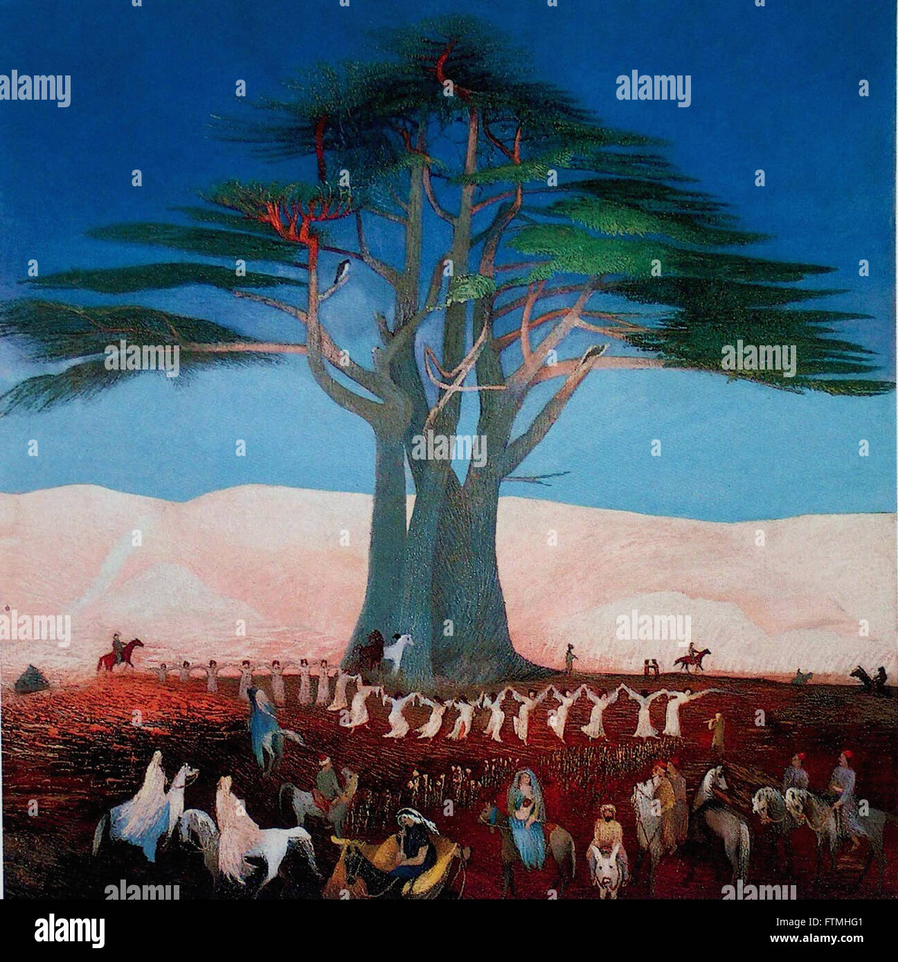 Csontváry Kosztka Tivadar - Pilgrimage to the Cedars of Lebanon - Hungarian National Gallery - Stock Image
