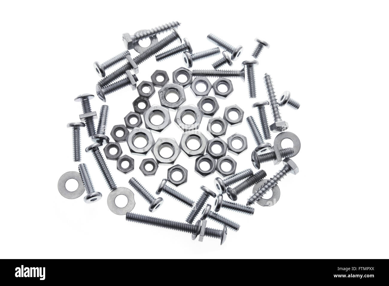 Bolts and Nuts - Stock Image