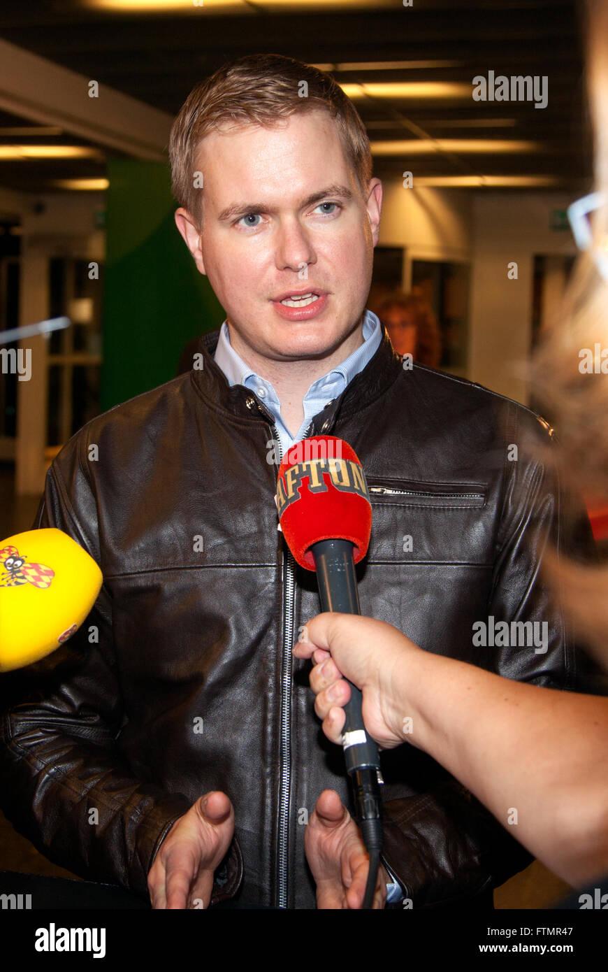 GUSTAV FRIDOLIN  Minister for Education in Sweden - Stock Image