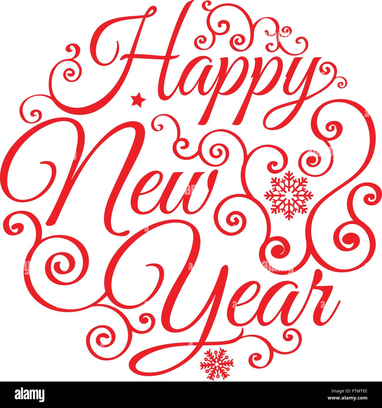 Happy New Year Lettering Design 33