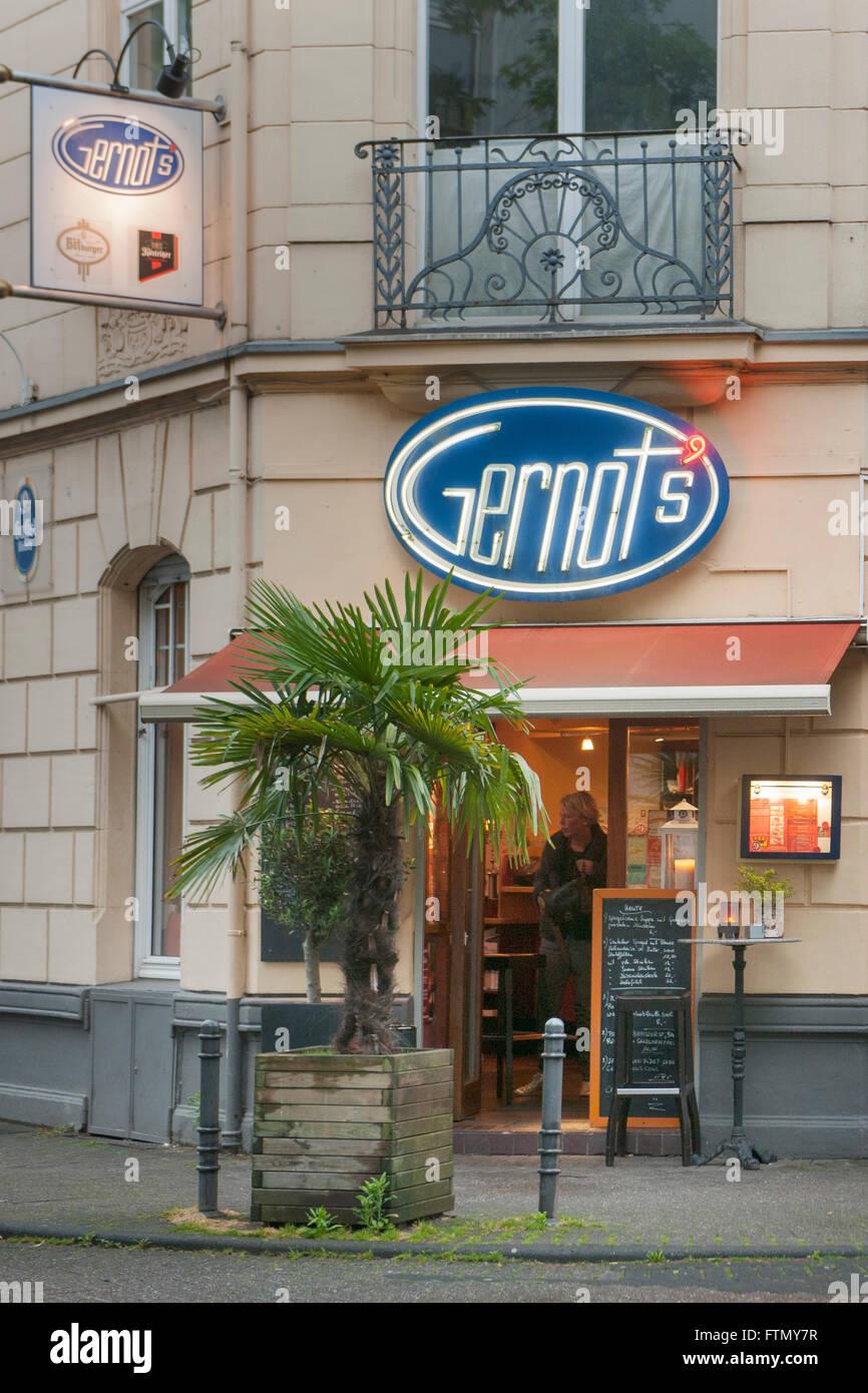 Köln, Nippes, Mauenheimerstrasse 32, Gernots Cafehaus Stock Photo