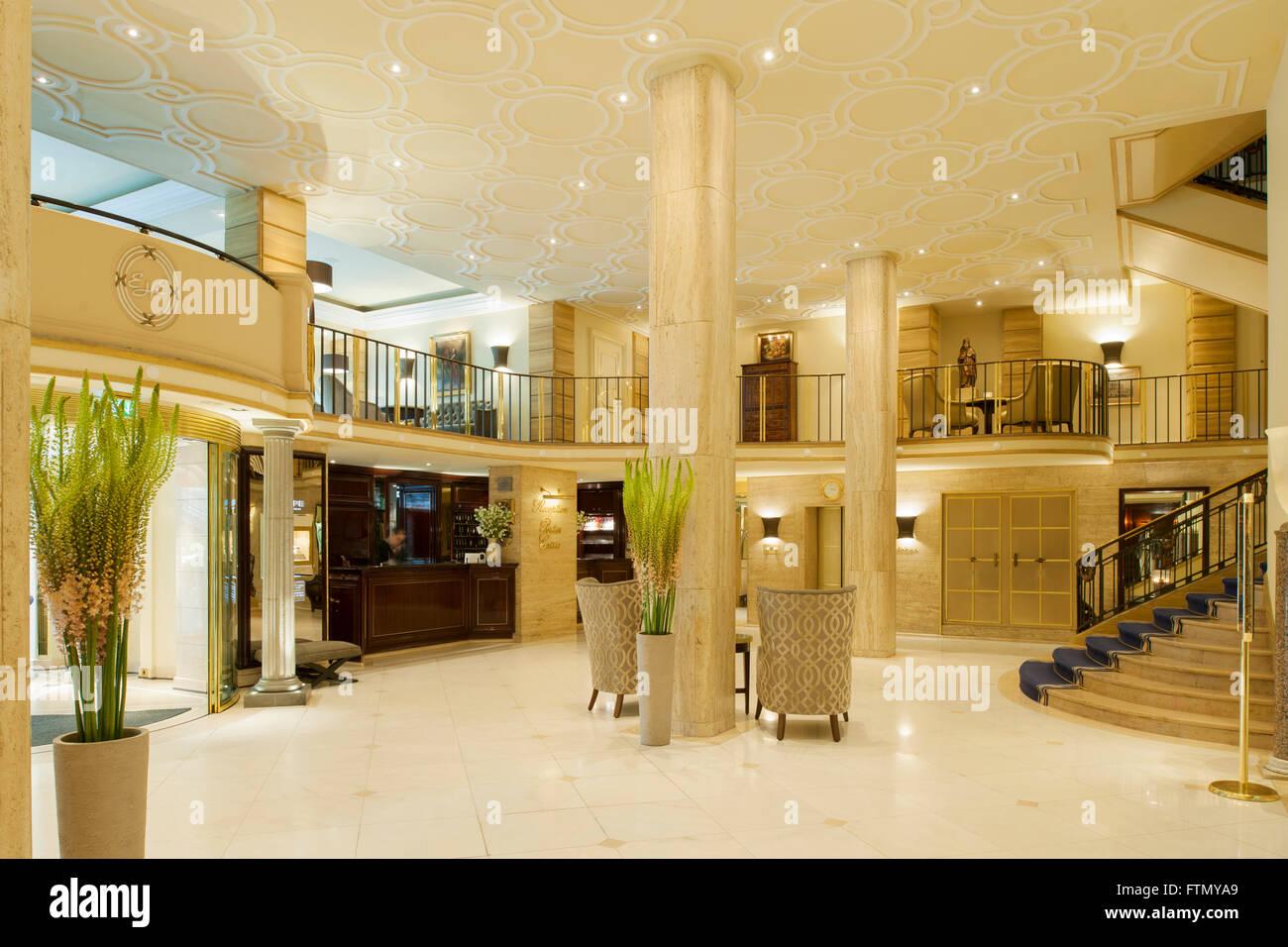 Köln, Altstadt-Nord, Lobby des Excelsior Hotel Ernst - Stock Image