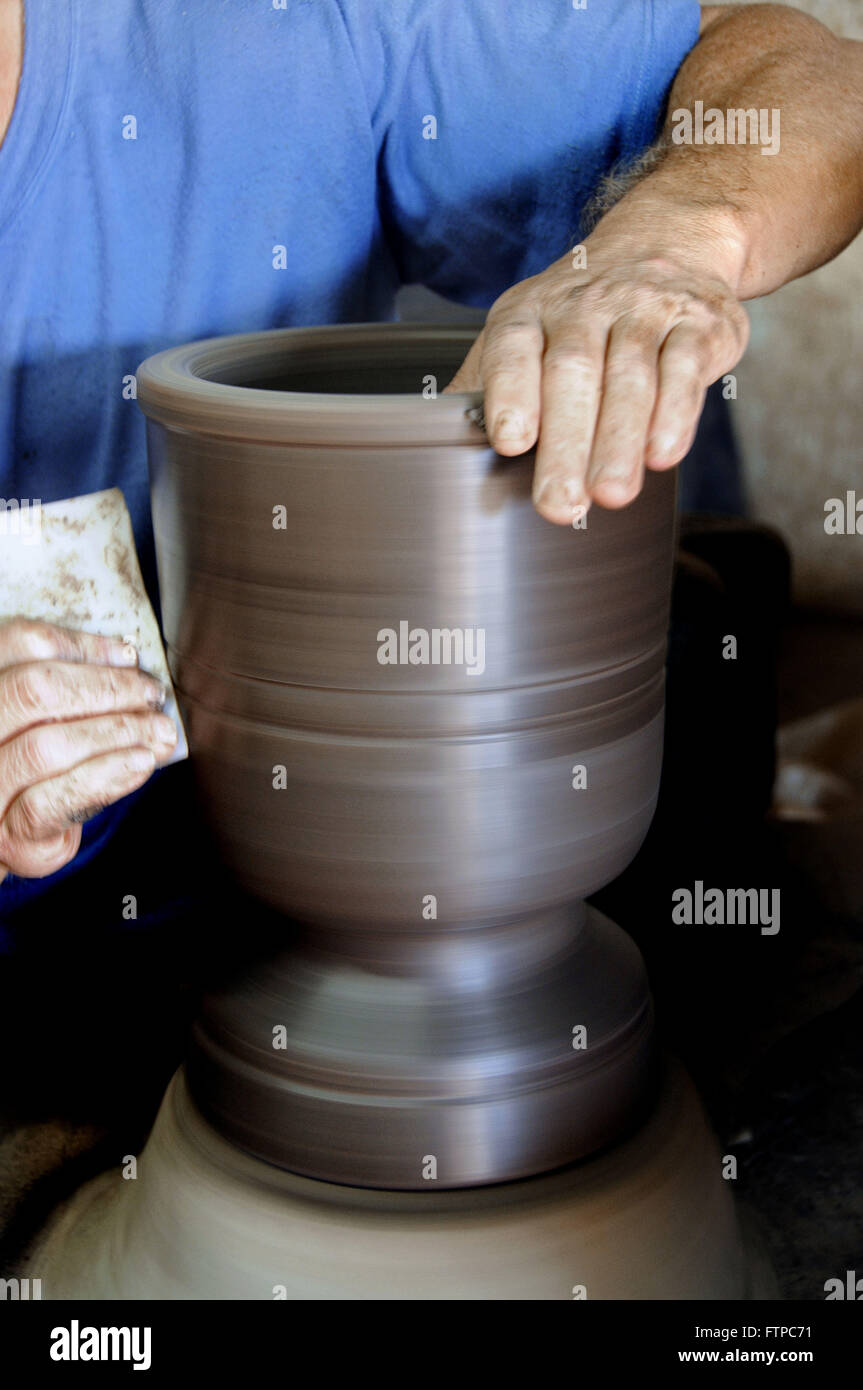 Manufactures water filters tiles - Stock Image