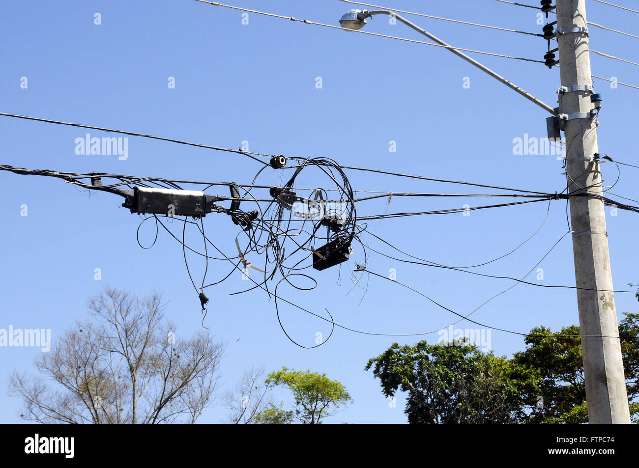 wiring and telephone network television to cable damaged