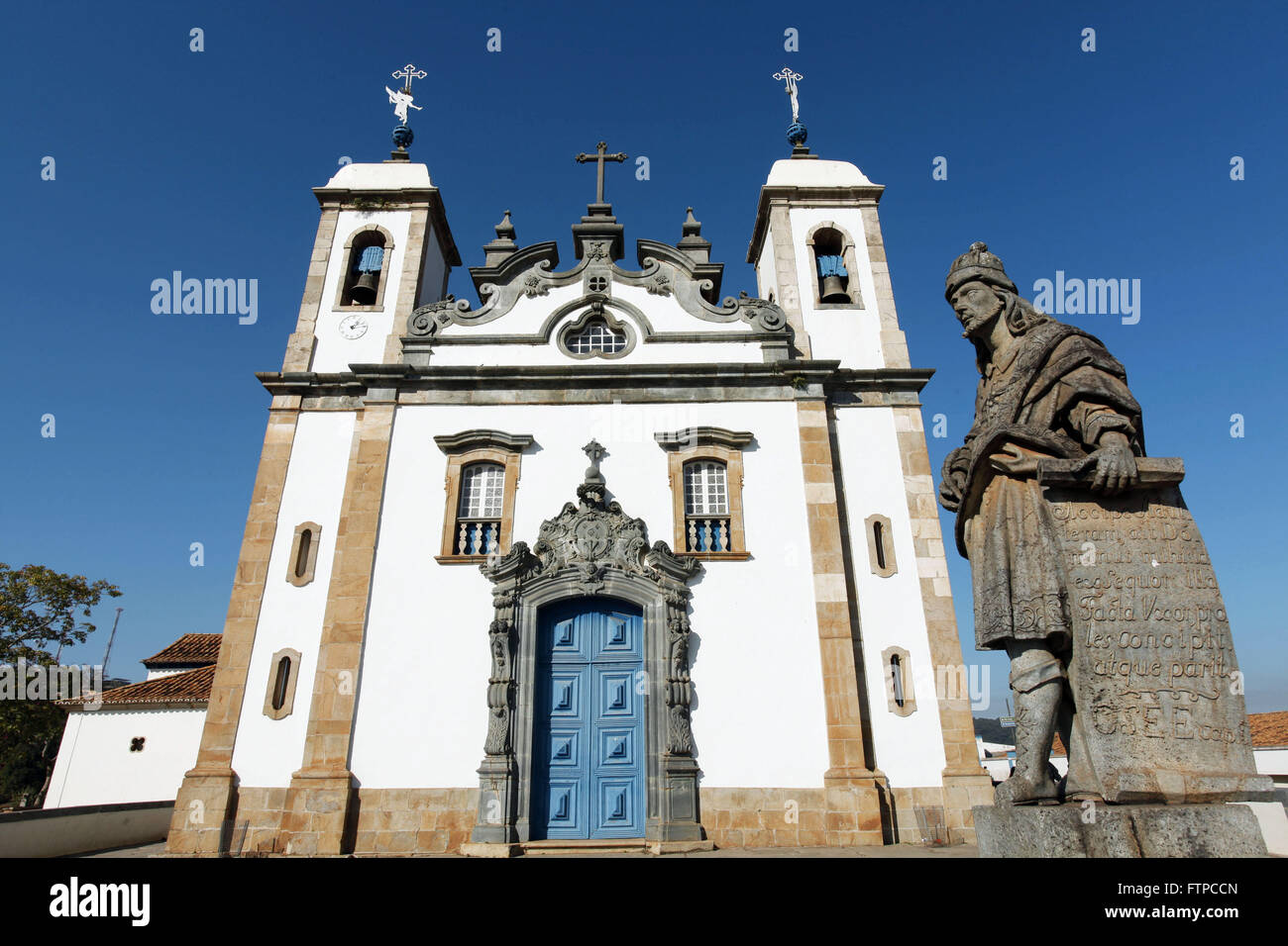 Sculpture carved by the Prophet Hosea Aleijadinho in Congonhas - MG - Stock Image