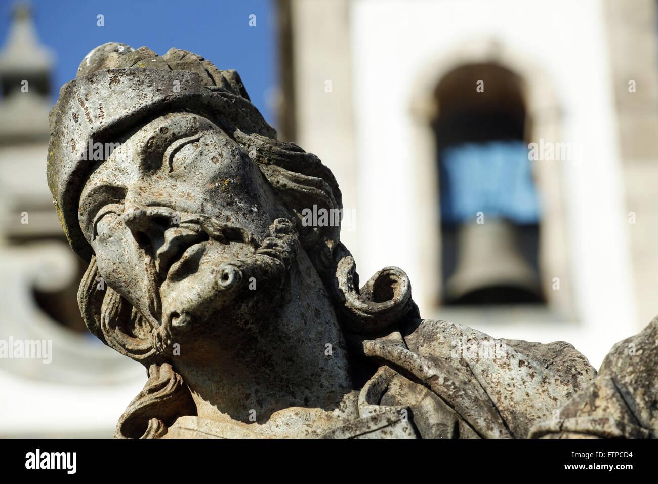 Prophet Ezekiel - sculpture carved by Aleijadinho the Basilica of Bom Jesus Matozinhos - Stock Image