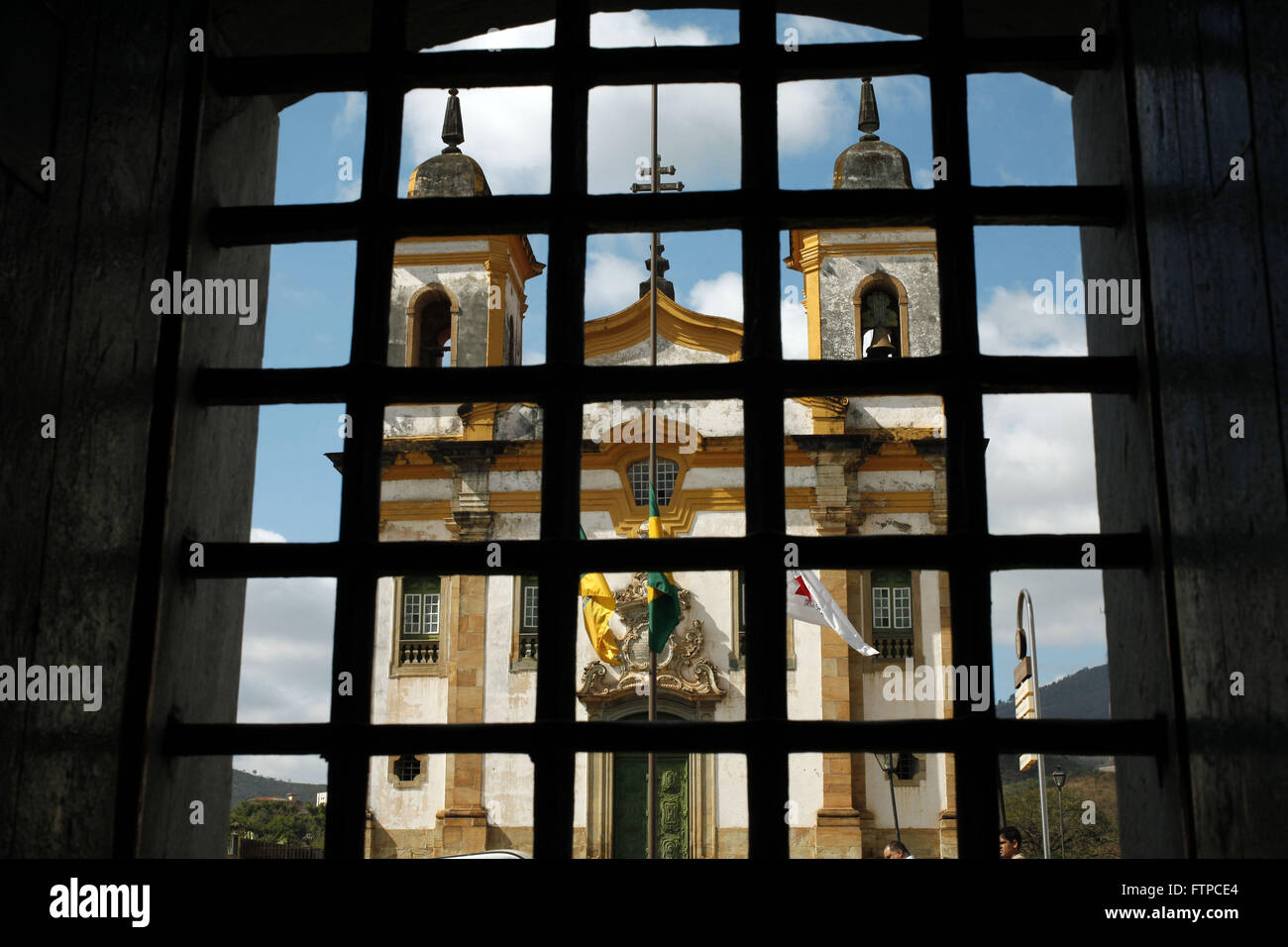 Church of Sao Francisco de Assis view from window of City Hall Stock Photo