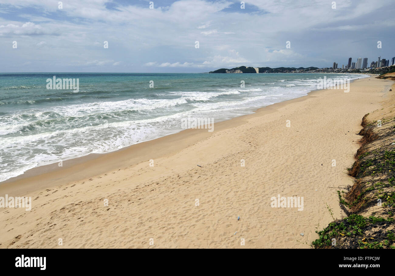 Ponta Negra beach in Natal - Bald Hill in the background - Stock Image