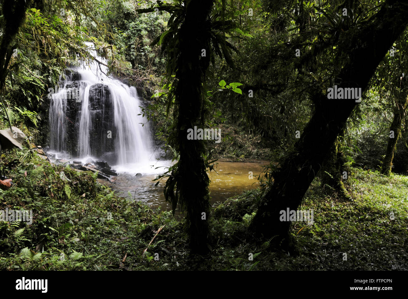 Maximum waterfall in the Deer Valley - National Park Bocaina - Stock Image