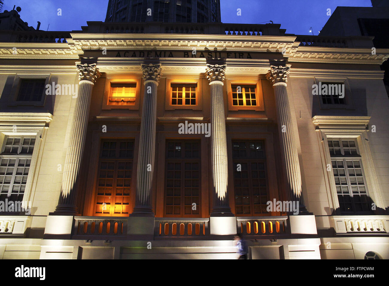Facade of the headquarters of the Brazilian Academy of Letters - ABL - opened in 1897 - Stock Image