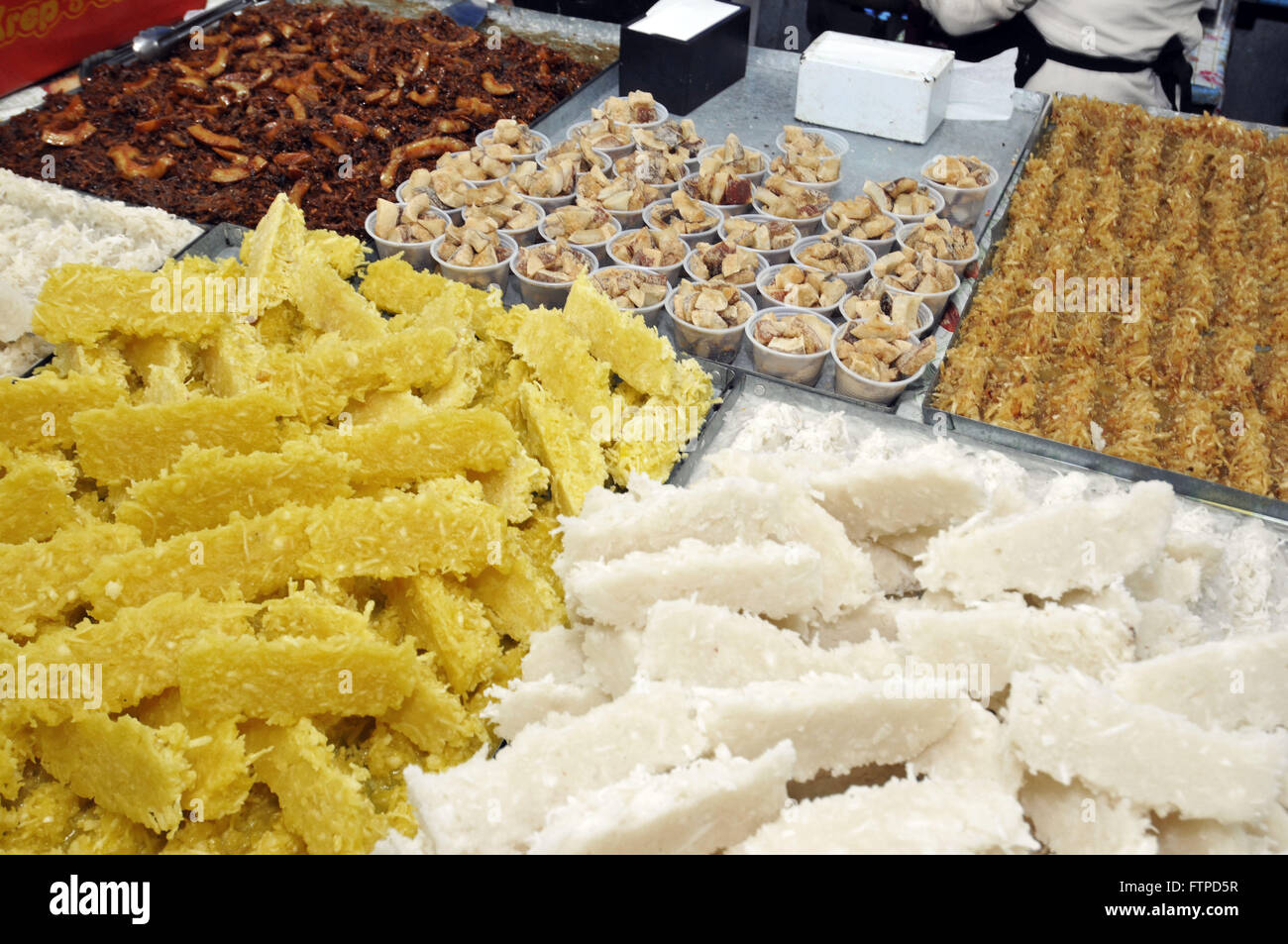 Delicacies for sale in Arraial do Ze mess in the city of Bueno Brandao - South of Minas Gerais - Stock Image