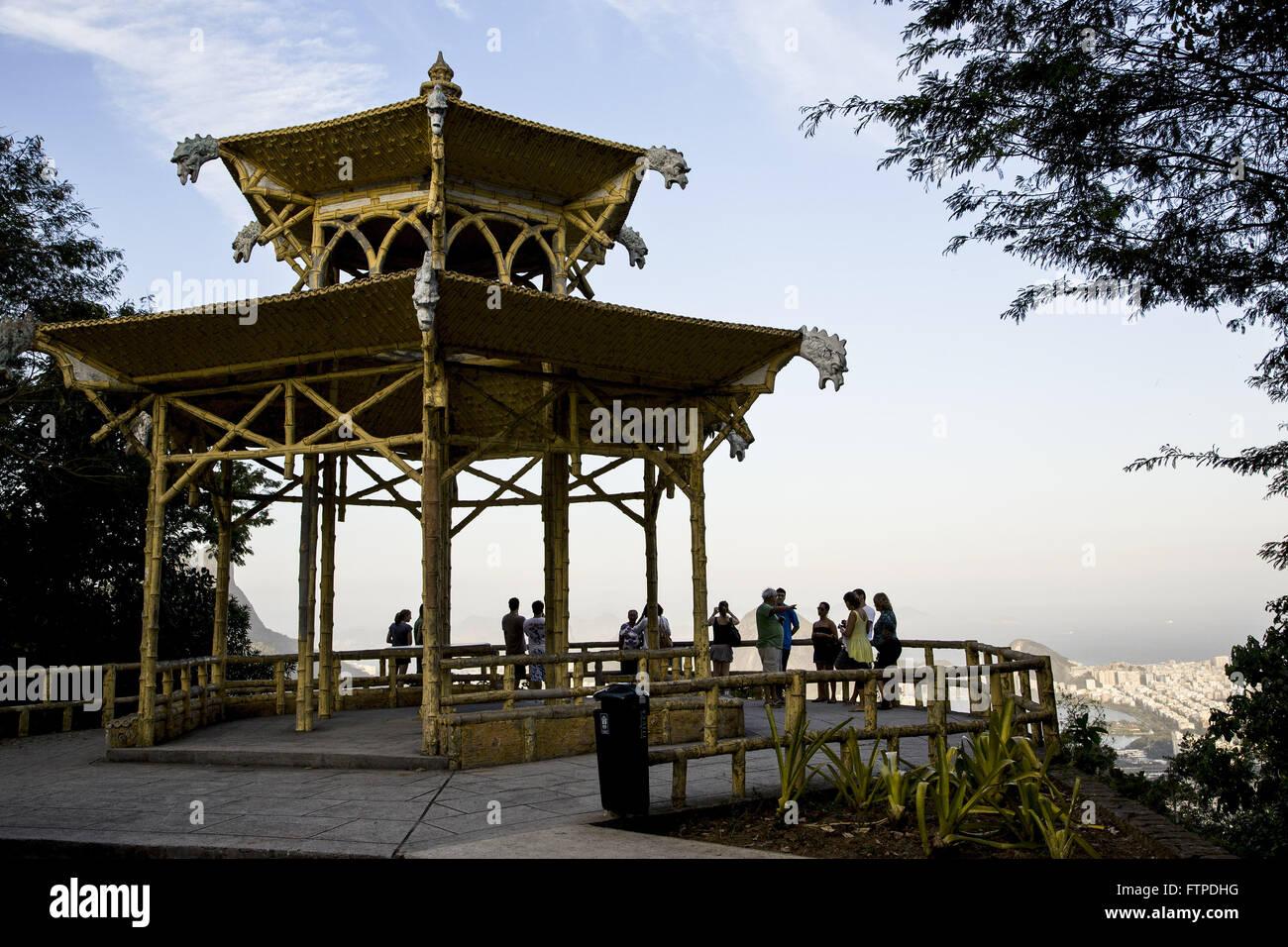 Chinese View in Bairro Alto da Boa Vista - National Park of Tijuca Forest Stock Photo