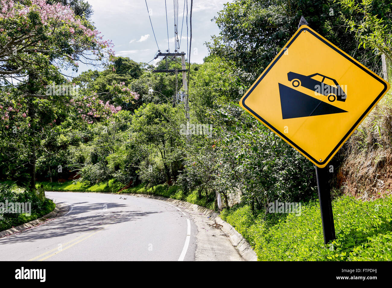 Plate signaling sharp incline in outer Darcy Penteado - Stock Image