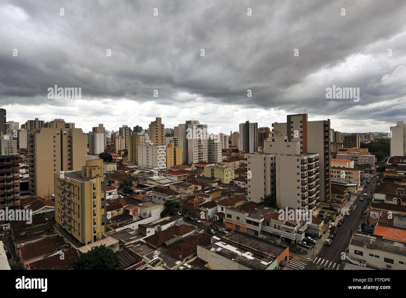 Cloudy sky in the city of Ribeirao Preto - Sao Paulo - Stock Image