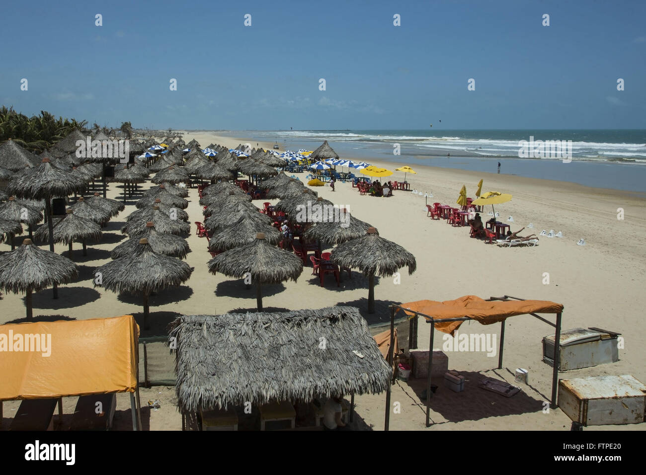 Tents with coverage of greens in Praia do Futuro - Stock Image