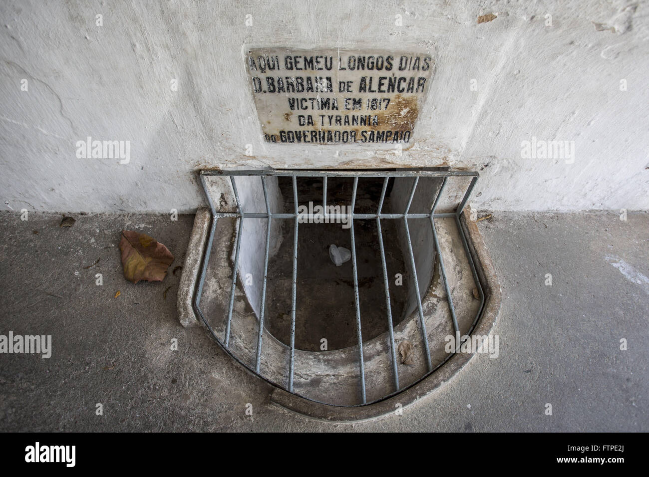 Dungeon where Barbara de Alencar was arrested for leading the proclamation of the Republic of the village of Crato - Stock Image