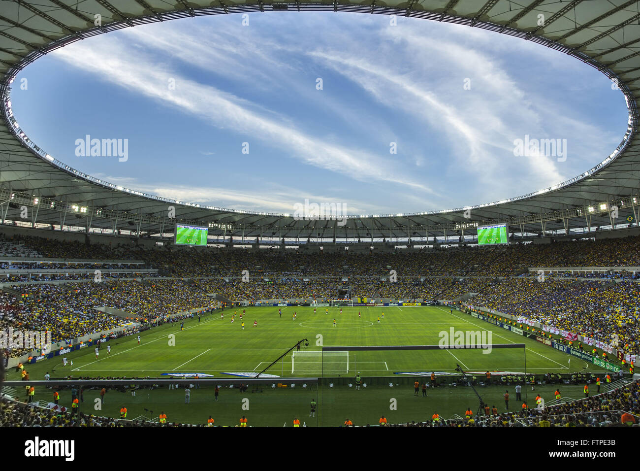 Reopening the Estadio do Maracana with friendly match between the national teams of Brazil and England - Stock Image