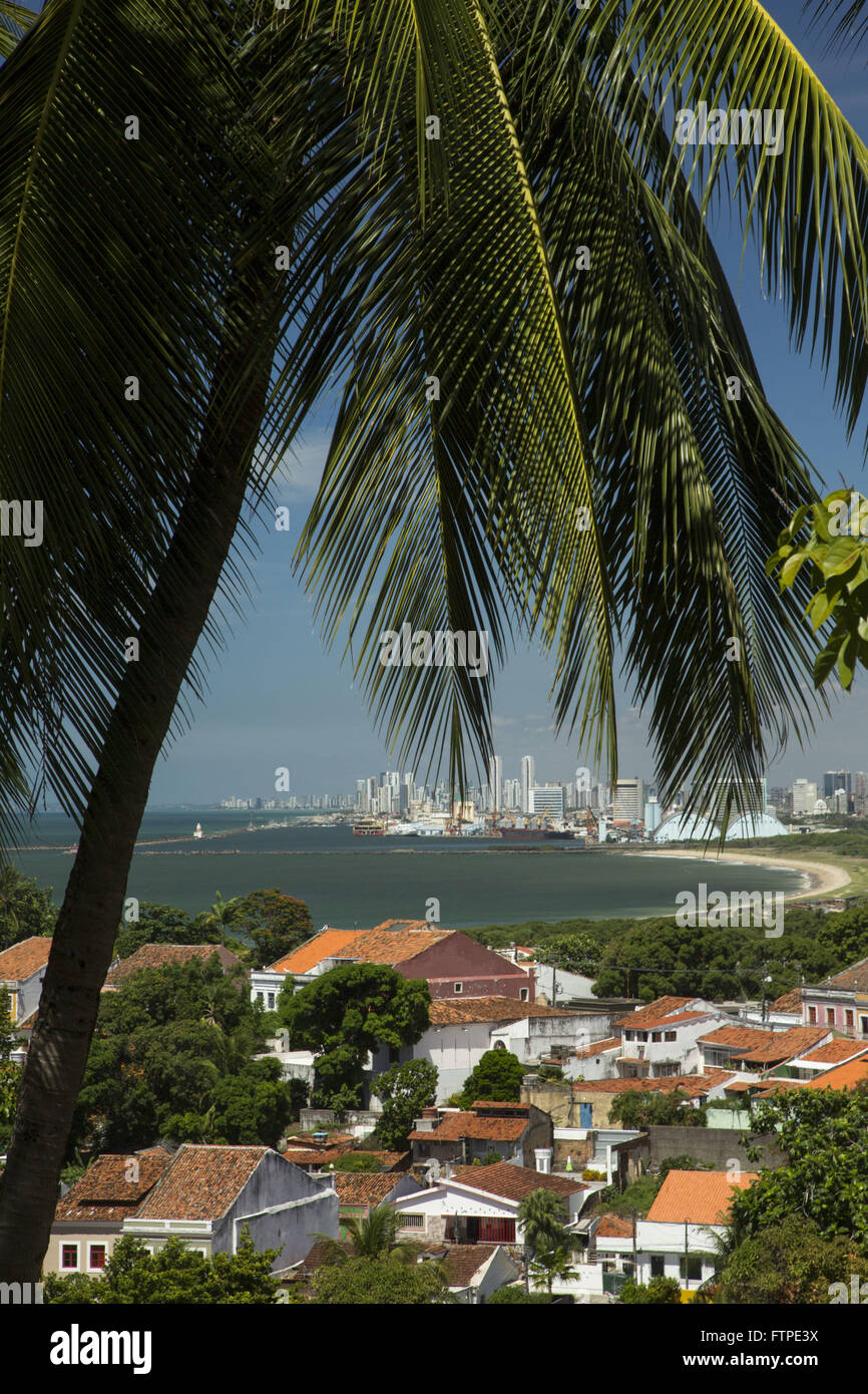 View of the historic city of Olinda with Recife in the background - Stock Image
