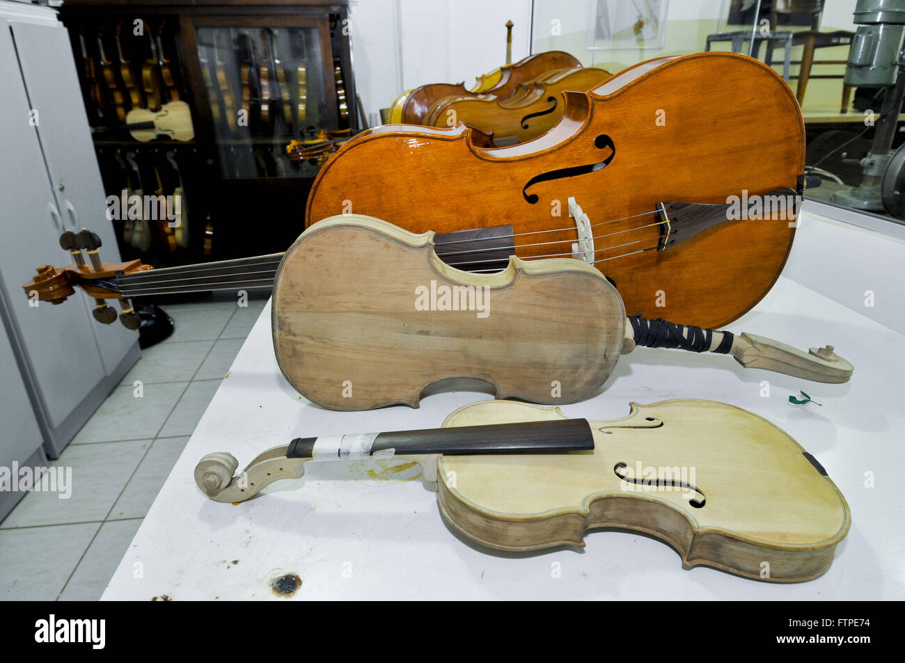 Shop luteria - Handmade manufacture of stringed instruments - Stock Image