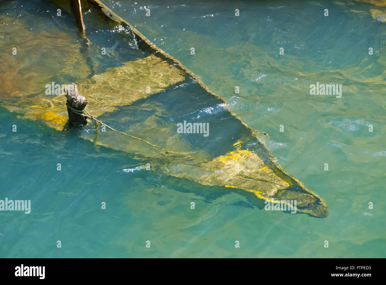 Canoe fisherman drowned in the Rio Sao Francisco Canion also known as Paul Canion Afon - Stock Image