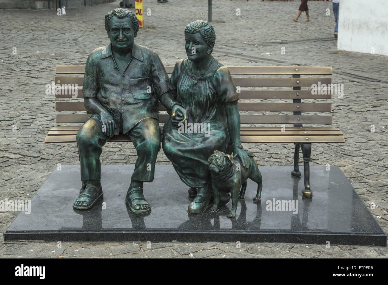 Sculpture of a couple of writers Jorge Amado and Zelia Gattai - work Tatti Moreno 2012 - Stock Image