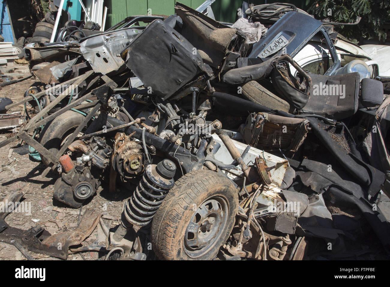 Scrap cars - Stock Image