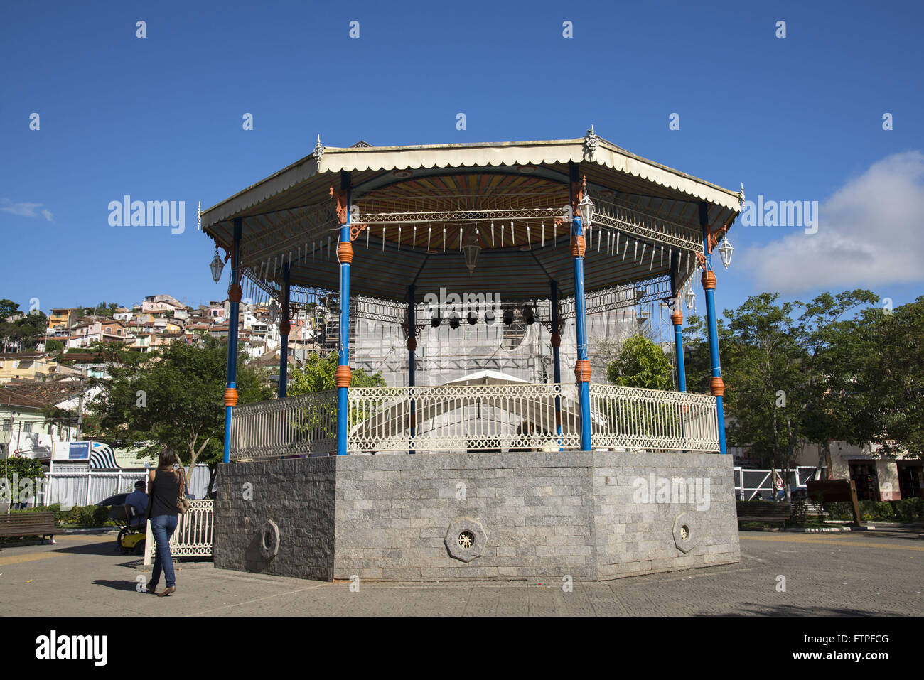 Bandstand Elpidio Praca dos Santos in the Oswaldo Cruz - Stock Image