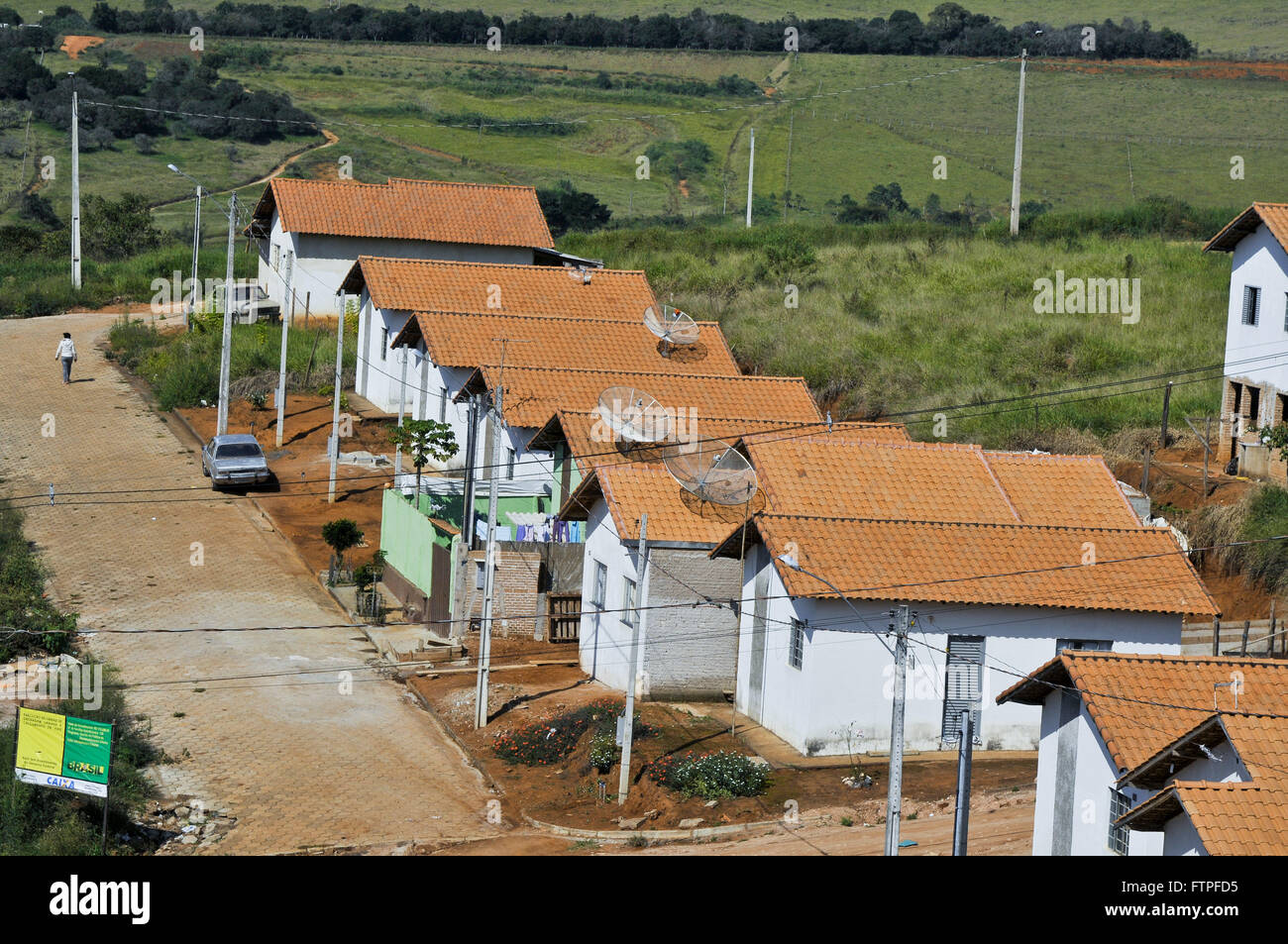 Housing affordable housing in the south of Minas Gerais - Stock Image