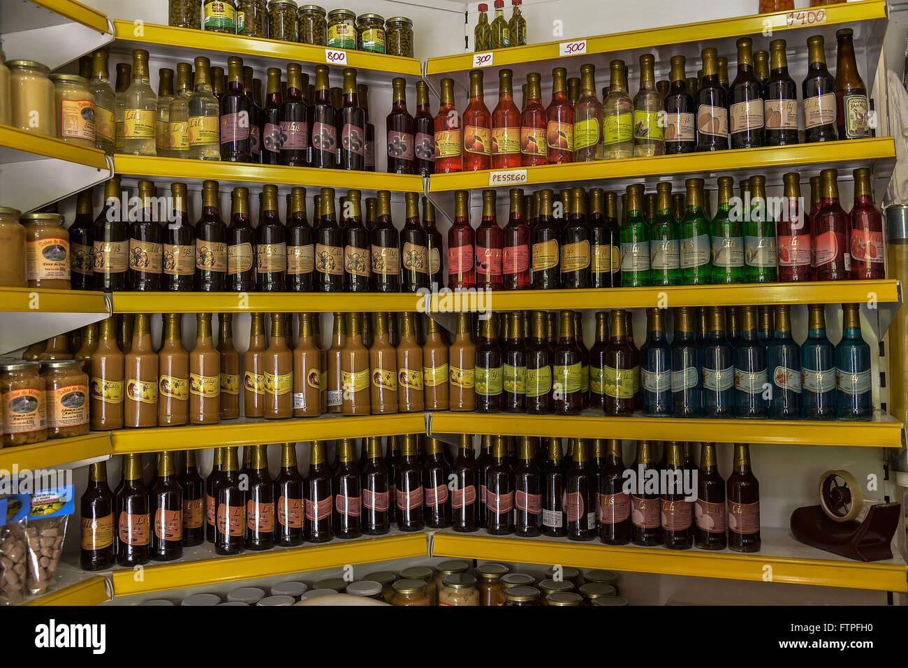 Spirits sold in store in the city center - Stock Image