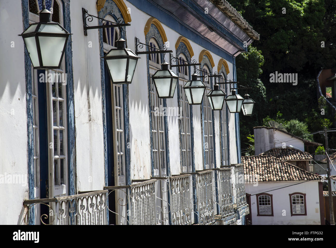 Architectural detail of a town hall - Stock Image