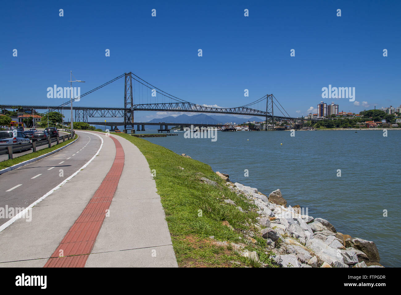 Cycleway and promenade on the Avenida Beira Mar Norte - Stock Image