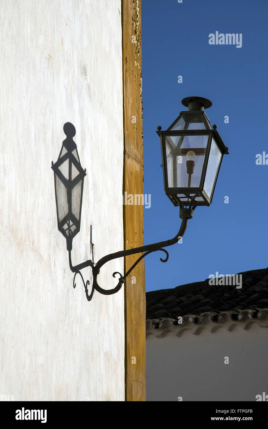 Detail of fixture of the Church of Bom Jesus da 1771 Poverty in Largo das Forras - Stock Image