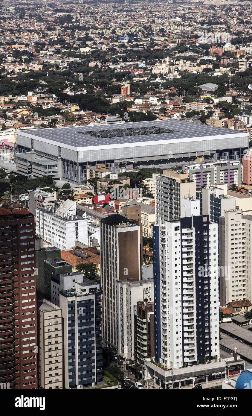 Aerial view of the Arena da Baixada - renovated to host the World Cup 2014 - Stock Image