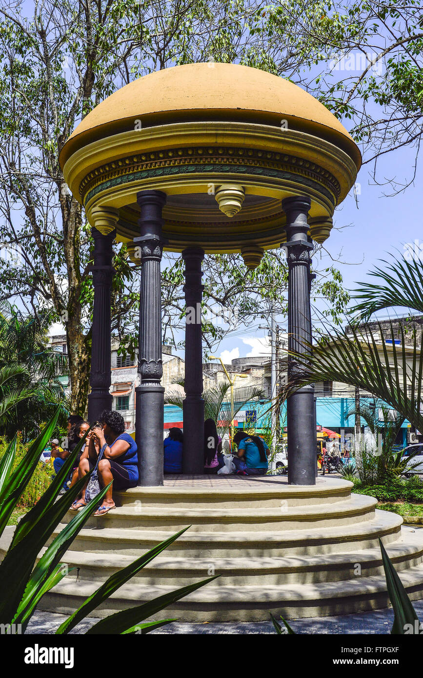 Bandstand Square Heliodoro Balbi - city center - Stock Image