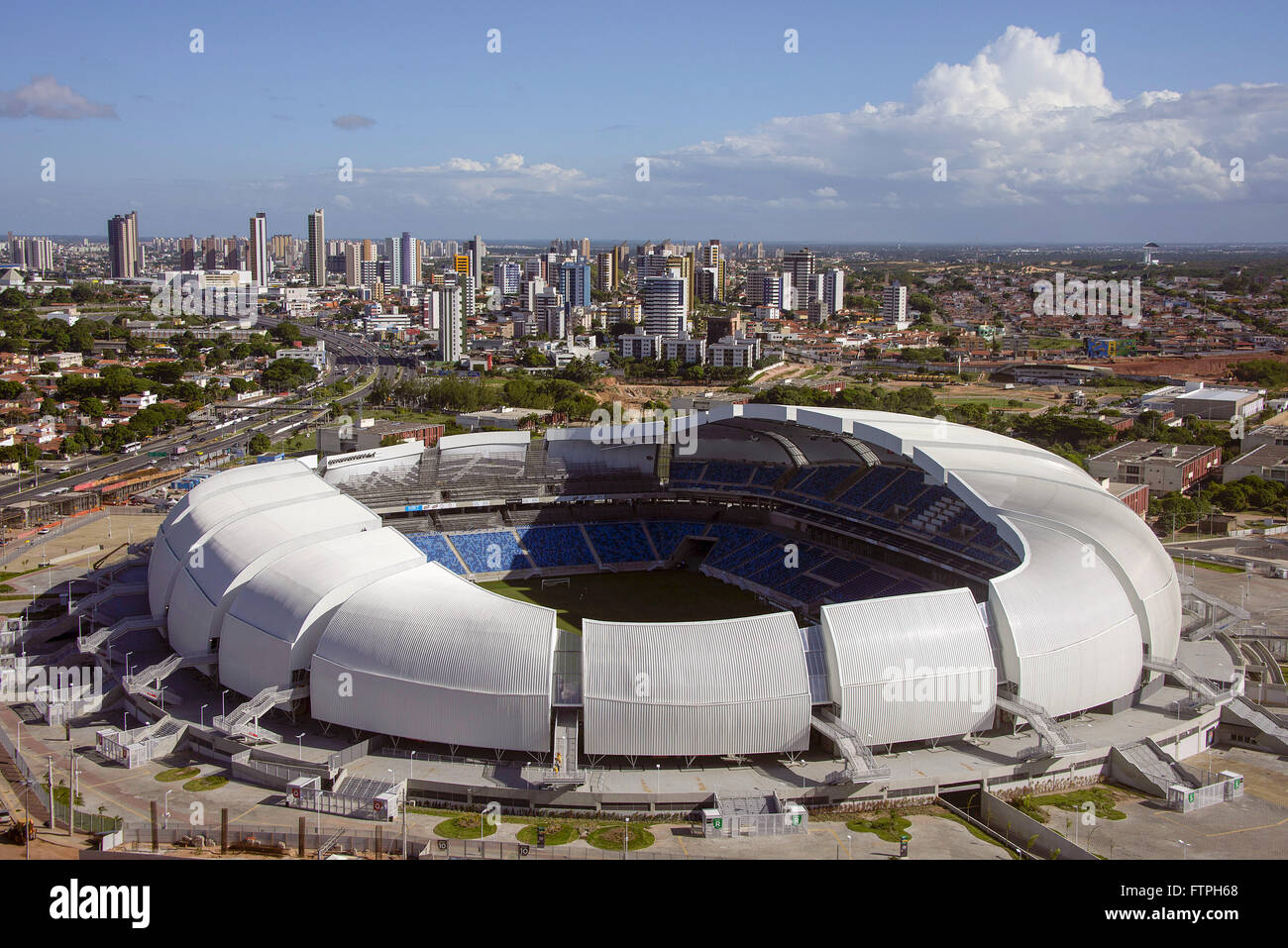 Top view of the Arena das Dunas - stadium built to host the 2014 FIFA World Cup - Stock Image