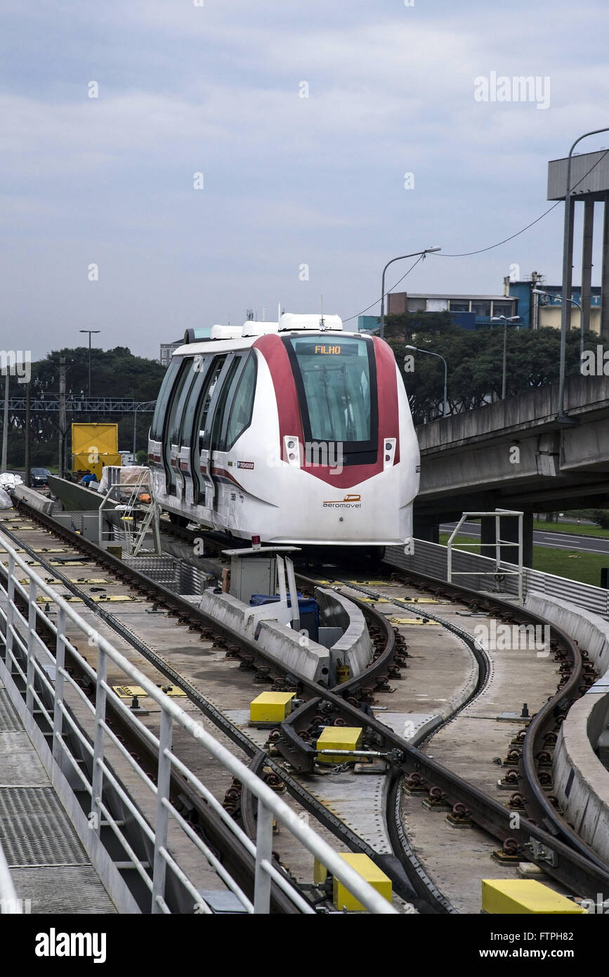 Airmobile - automated means of transport in elevated track - projected and technology - Stock Image
