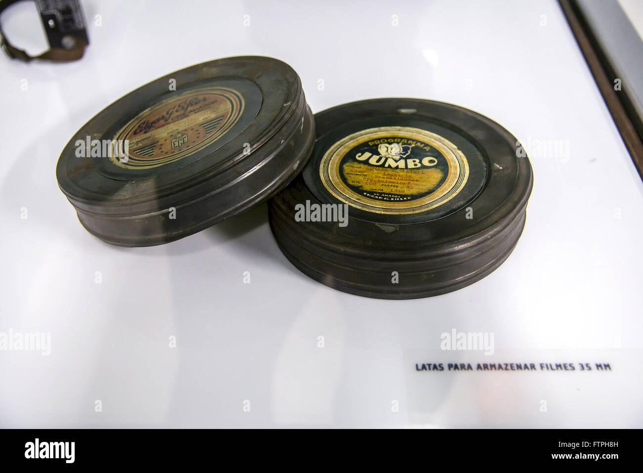 Storage Cans for 35 mm films 1940 - Stock Image