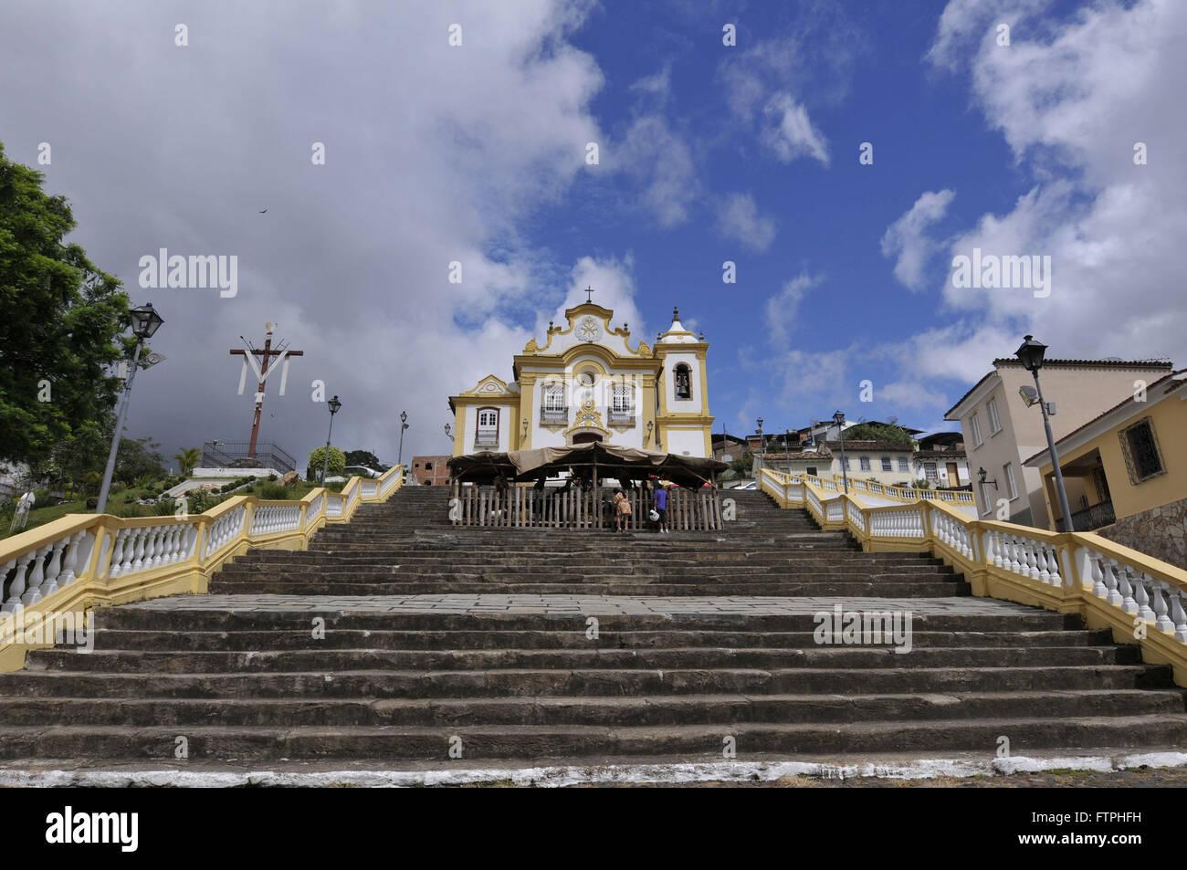 Church Our Lady of Merces with presepio on staircase - Praca Dom Pedro II or Largo das Merces - Stock Image