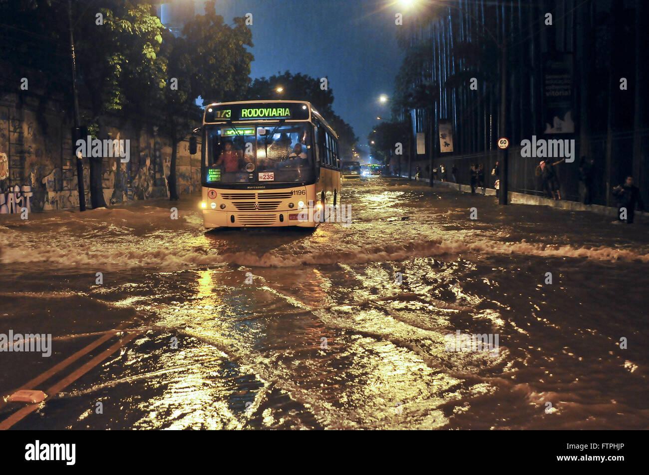 bus crossing flooded street Botanical Garden in Rio de Janeiro Stock ...