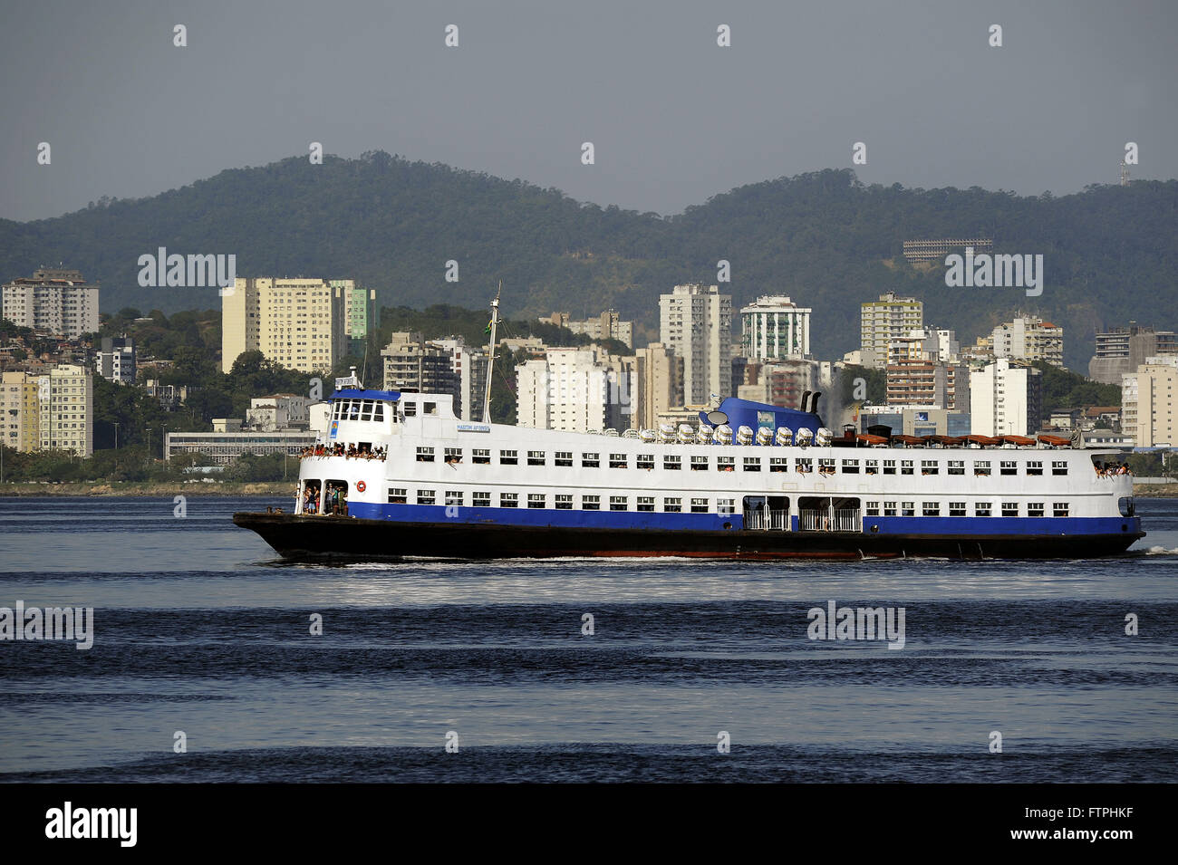 Barca making passenger service between Rio and Niteroi in Guanabara Bay - Stock Image