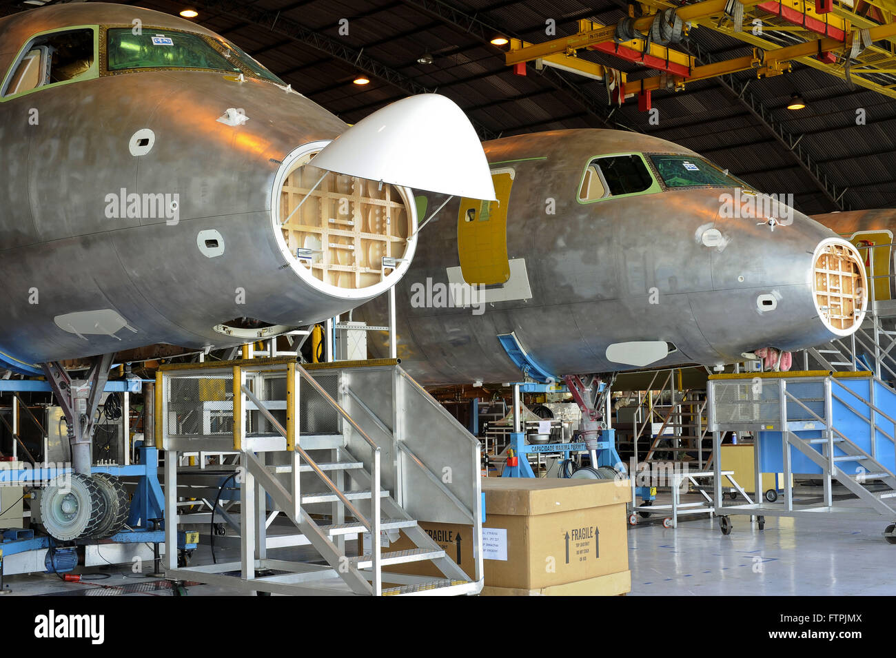 Assembly line for the EMB-170 and EMB-190 from EMBRAER - Stock Image