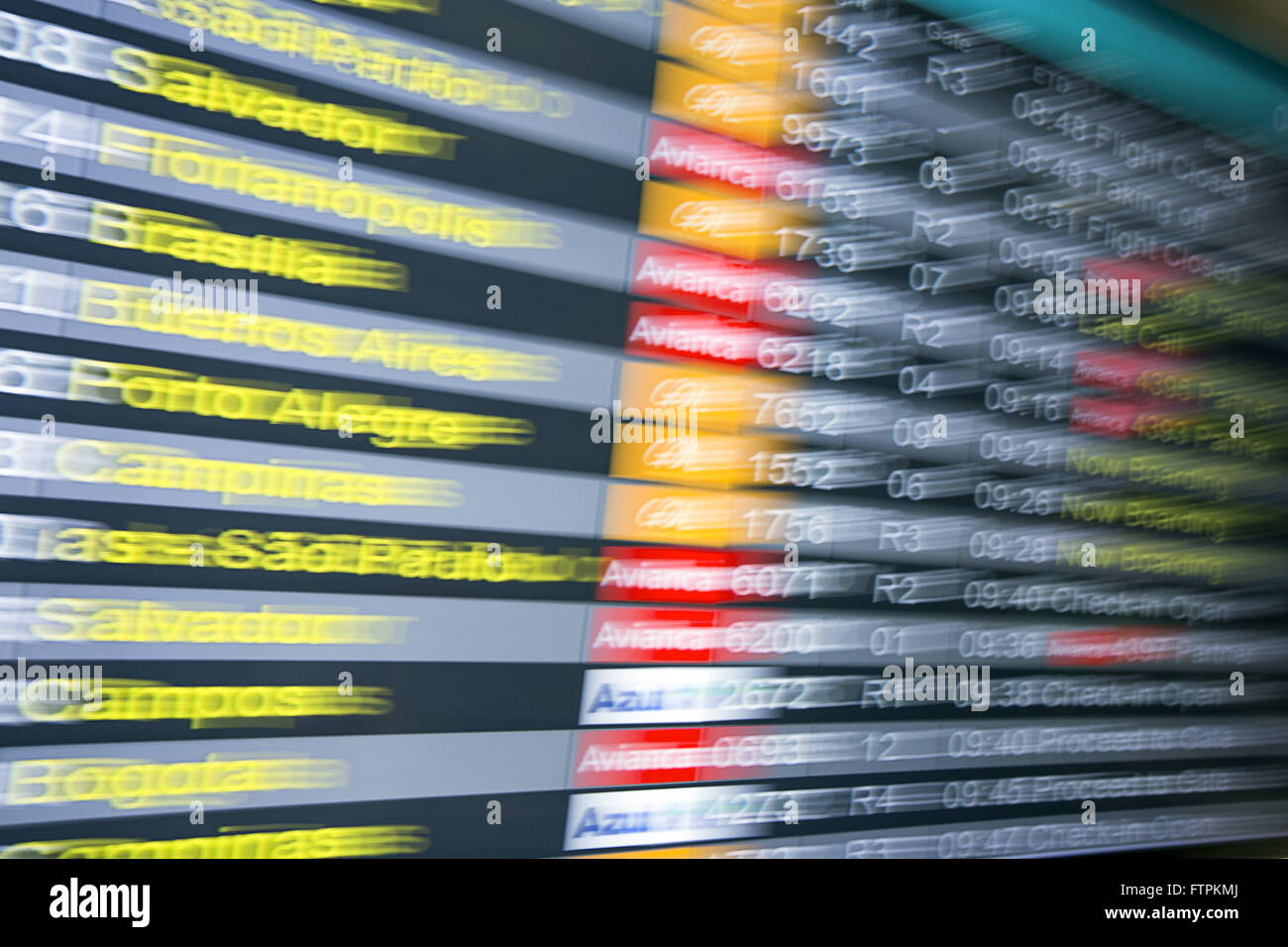 Information panel flights - Stock Image